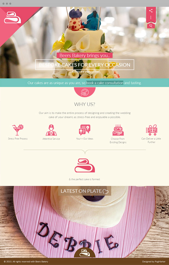 Beers Bakery Home page design