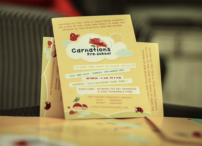 Carnations Preschools Invitation