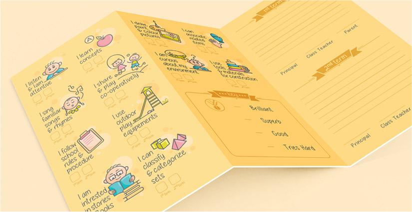 Carnations Preschool Report Card PugMarker