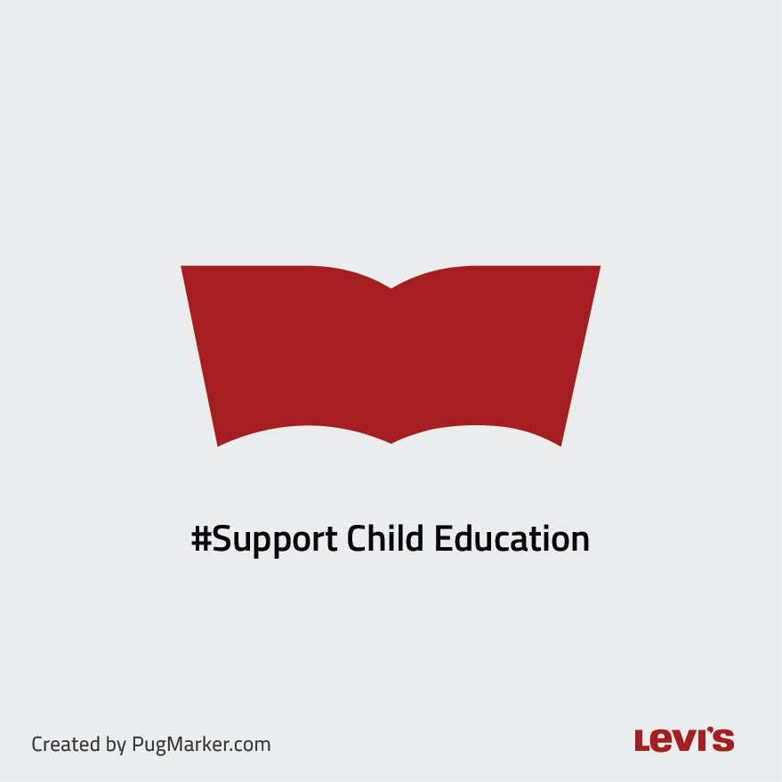 LevisBrand logos reimagined for social cause Levis for 'Support child education'