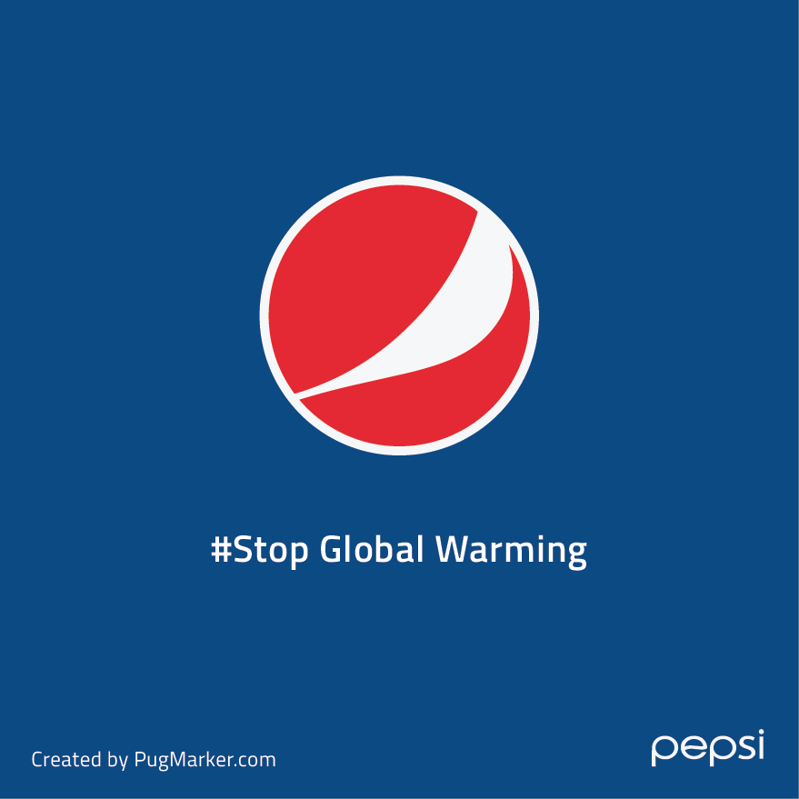 PepsiBrand logos reimagined for social cause : Pepsi for 'Stop global warming'