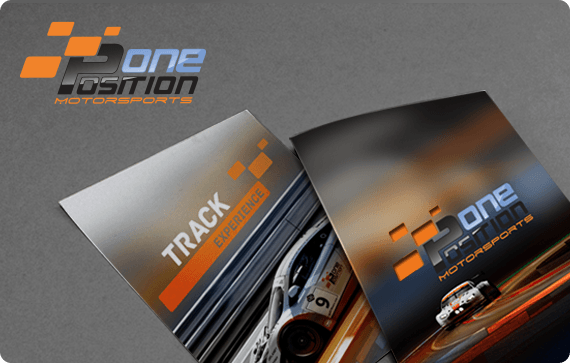 Position One MotorSports Leaflet and brochure design