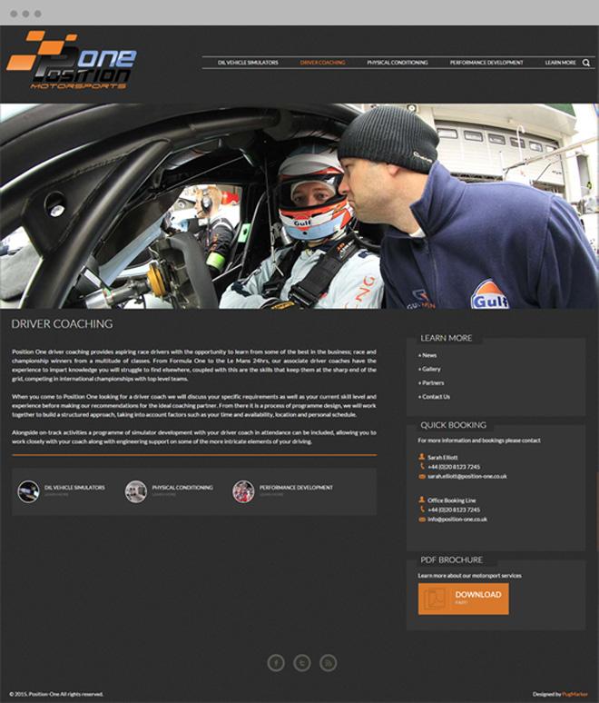 Position One MotorSports Driver PugMarker