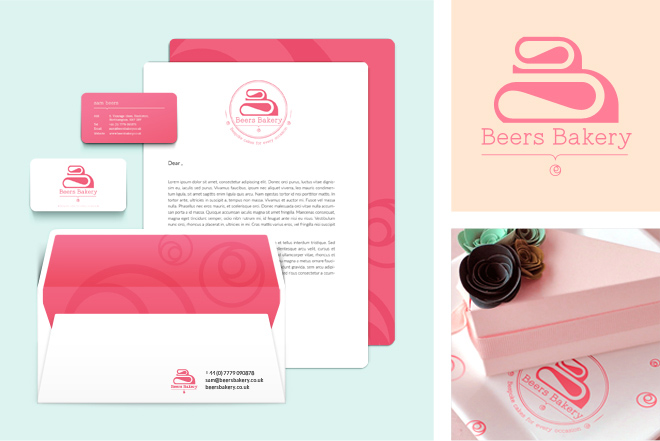 beers bakery stationary design by pugmarker