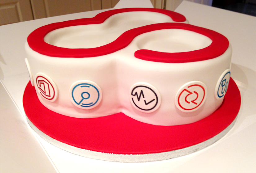 pugmarkers icons on silverbug celebration cake