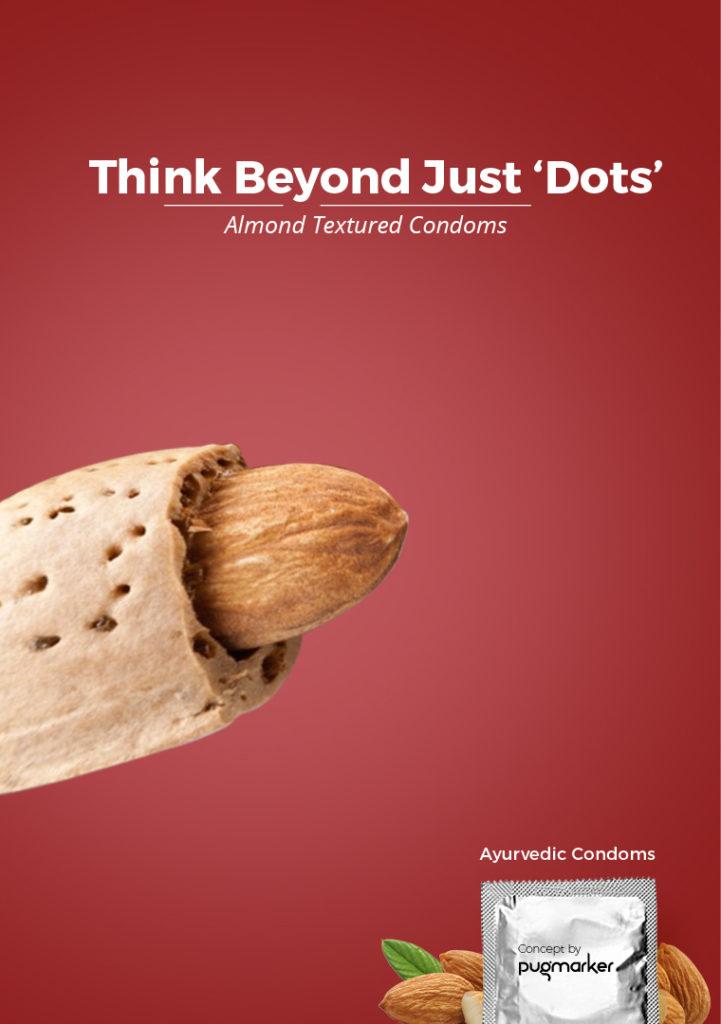 Almond Textured Patanjali Ayurvedic Condoms