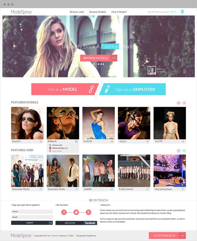 Modelspree Homepage