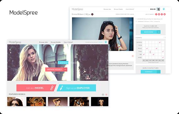 Modelspree website design