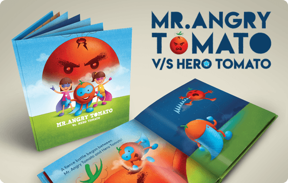 Angry Tomato story book design project