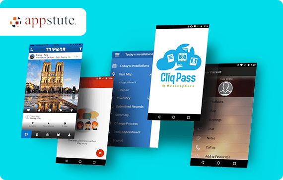 Appstute website design project