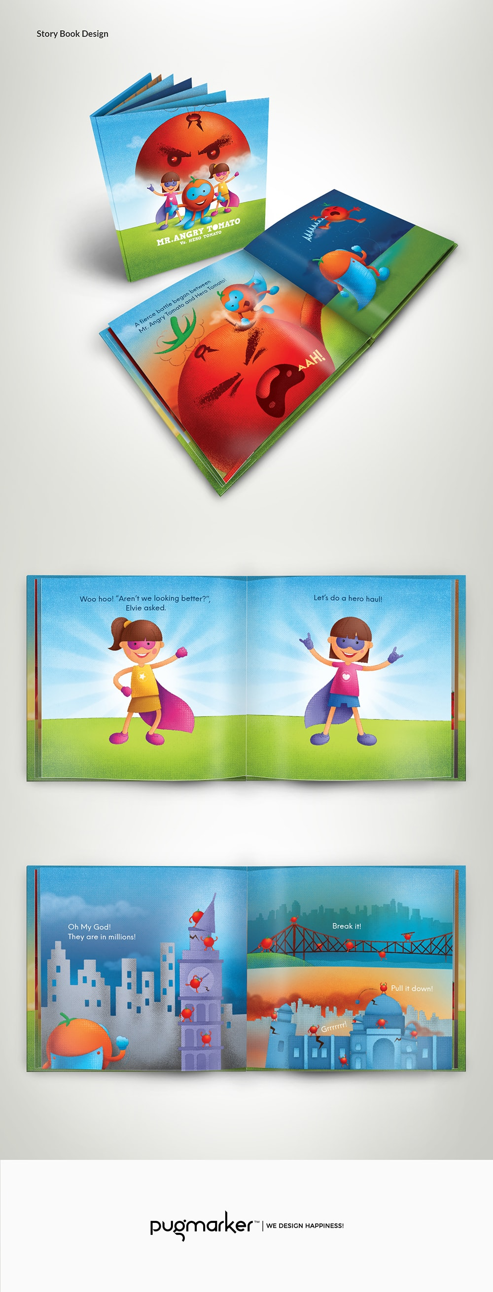 angry tomato story book
