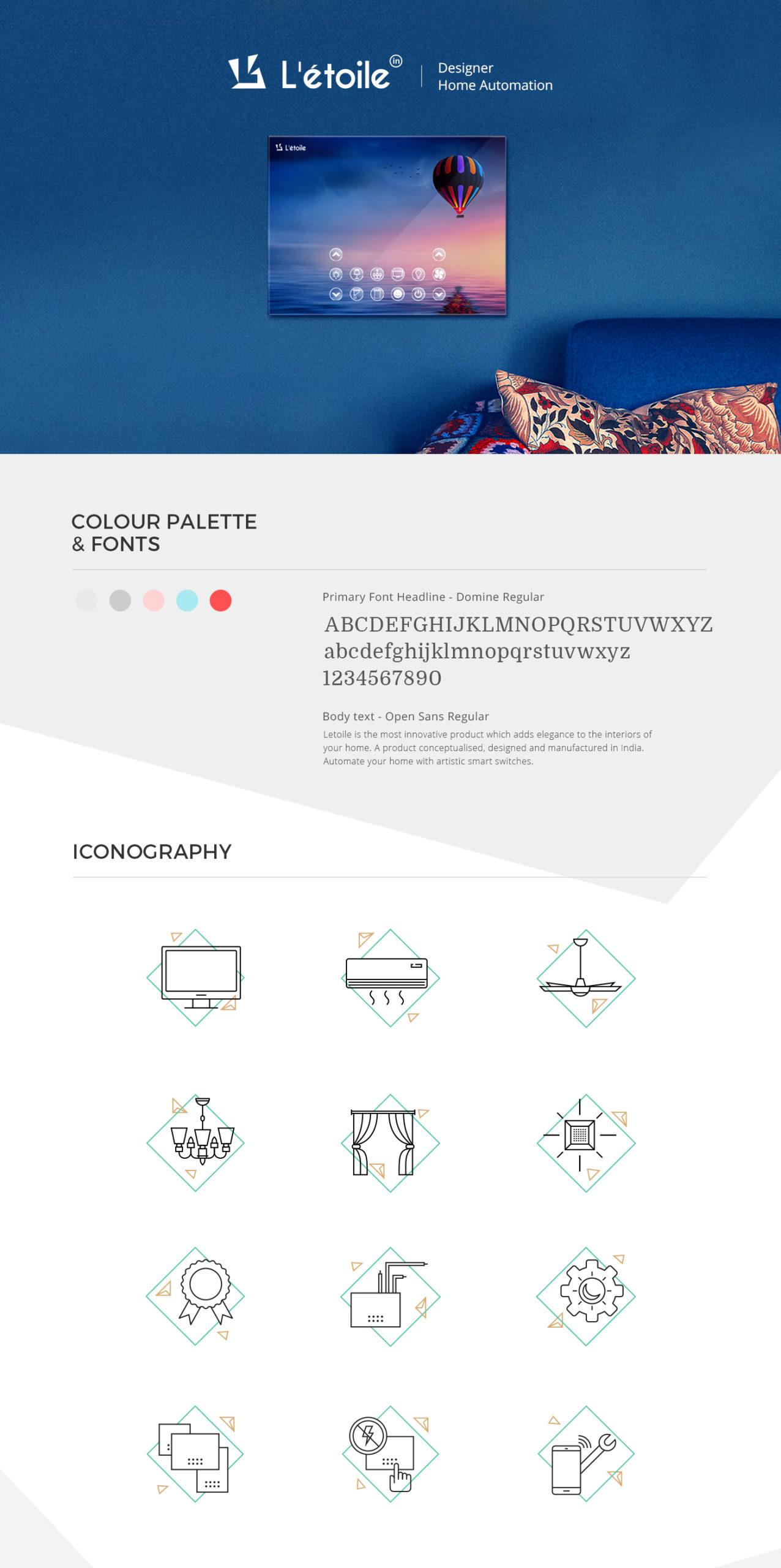 Letoile website iconography