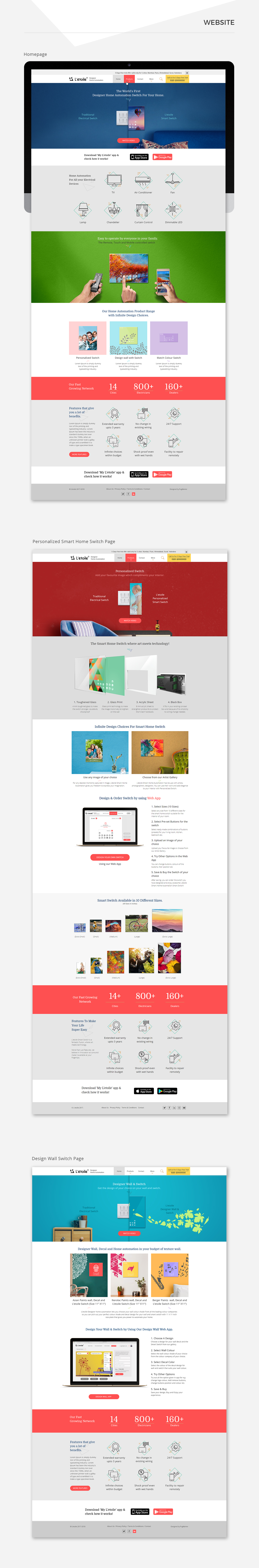 Letoile website design