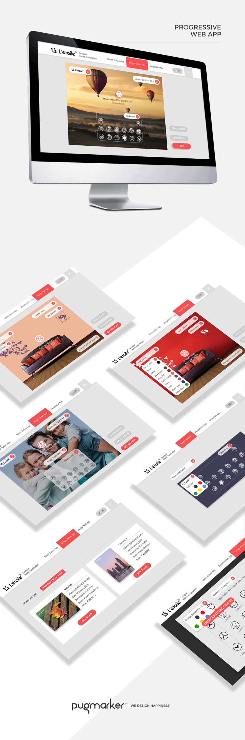 Letoile progressive web app