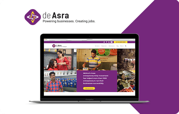 deAsra website design by pugmarker