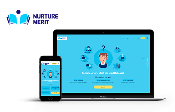 nurtur merit website design project