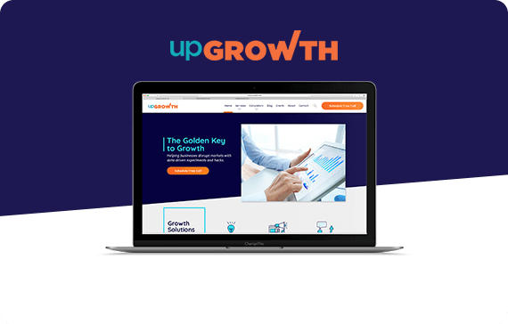 UpGrowth website design project by pugmarker