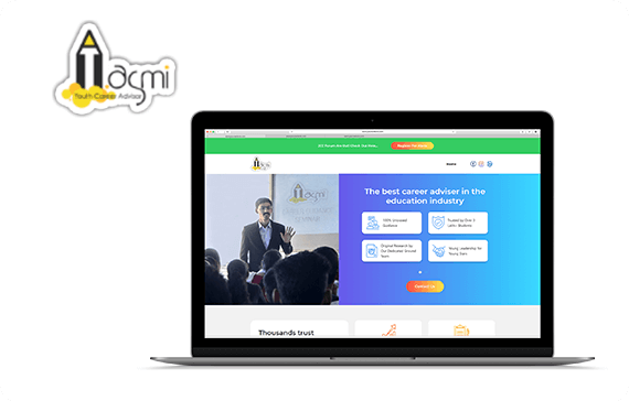 asmi website design project
