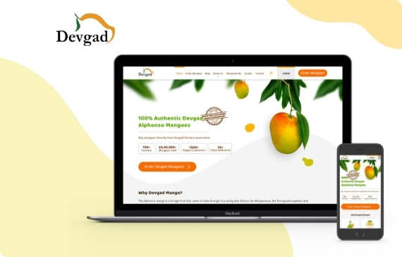 devgad mango website design