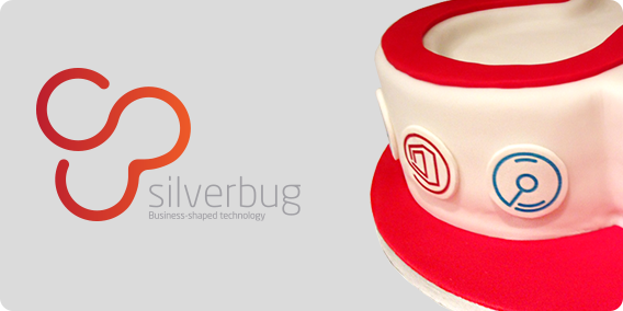 Our icons on silverbug celebration cake