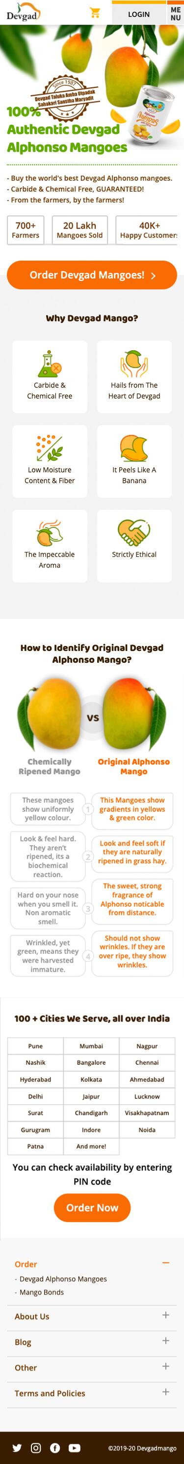 Devgad Mango Website by PugMarker