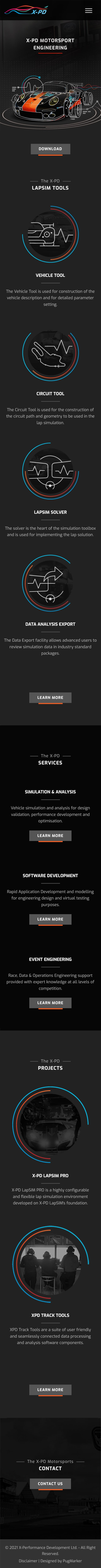 X-PD Home Page Mobile Version