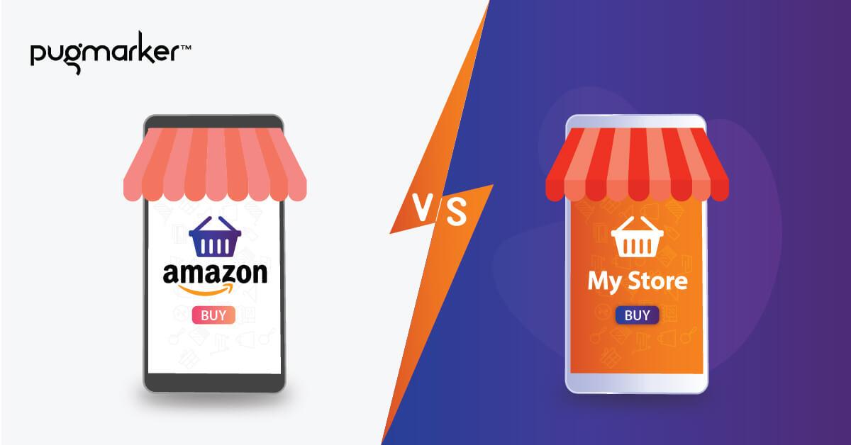 amazon vs my own site